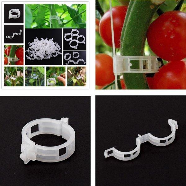 Пластиковые зажимы для подвязки растений (10, 20, 50 шт)