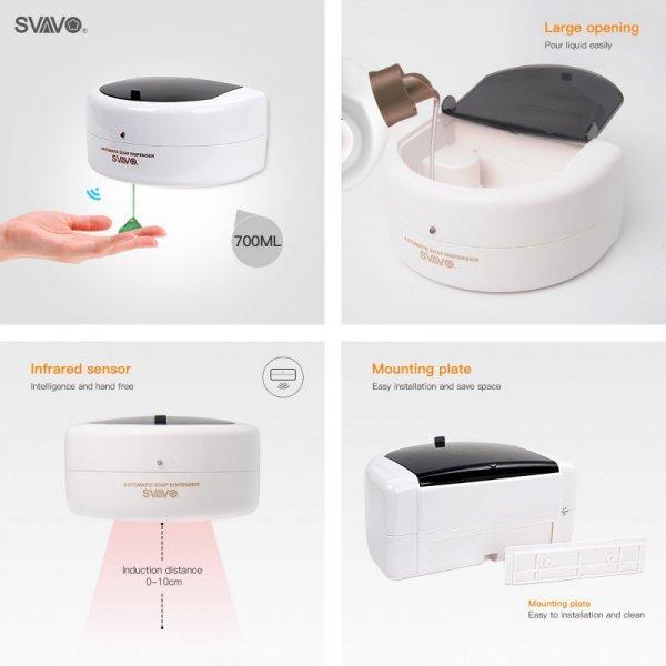 Настенный  бесконтактный дозатор для мыла от SVAVO