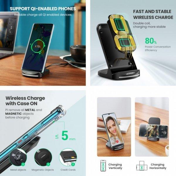 Беспроводная зарядка для смартфона Ugreen