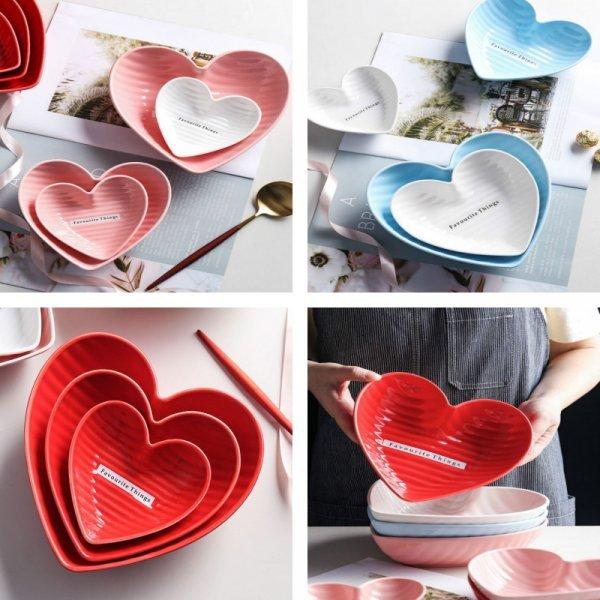 Керамическая миска в форме сердца Abay