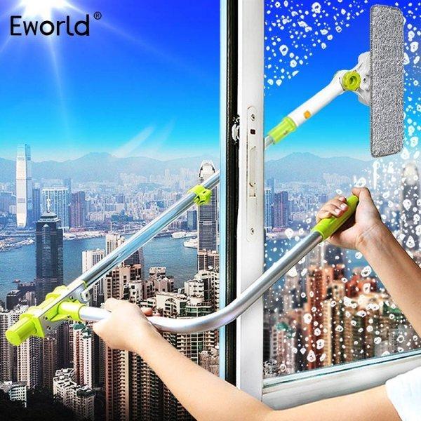 Улетная Телескопическая щетка для мытья окон с рычагом Eworld