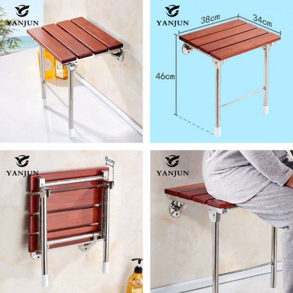 Настенное складное сиденье для душевой кабины Yanjun