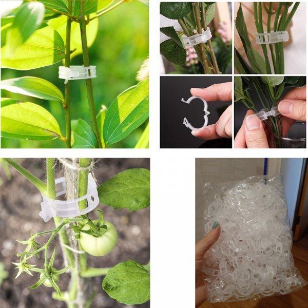 Пластиковые зажимы для поддержки растений
