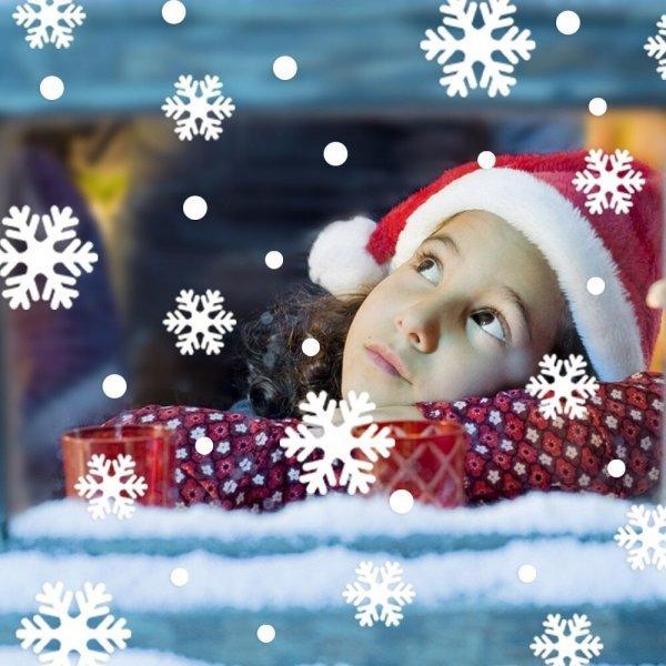 Набор снежинок на стекло - готовимся к празднику заранее!