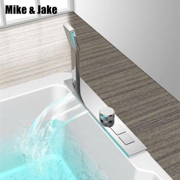 Кнопочный смеситель для ванны Mike&Jake