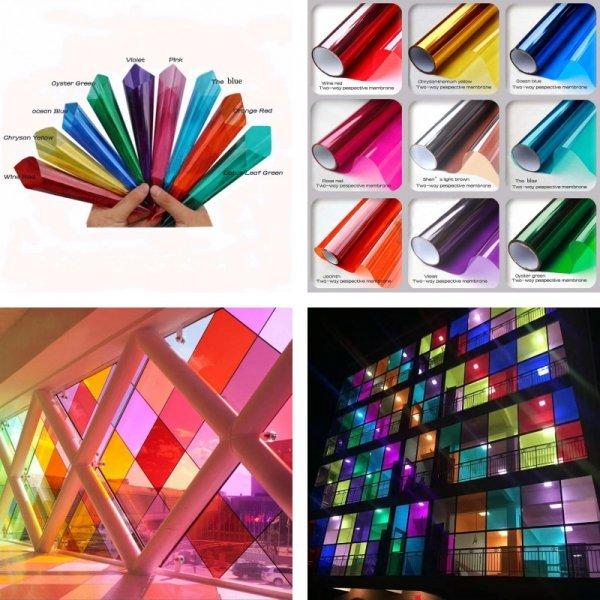 Цветная декоративная пленка от FUNLIFE (18 цветов)