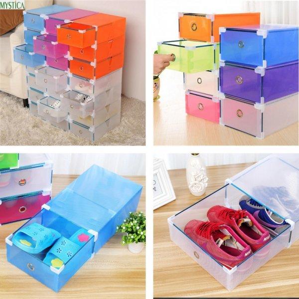 Выдвижные ящики для обуви MYSTICA (5 шт, в наличии 7 цветов, 3 размера)