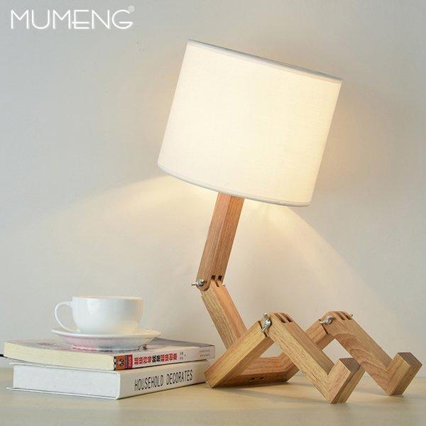 Деревянная складная лампа от MUMENG