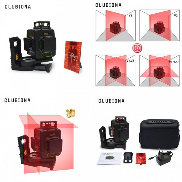 Лазерный уровень Clubiona 3D 12RC