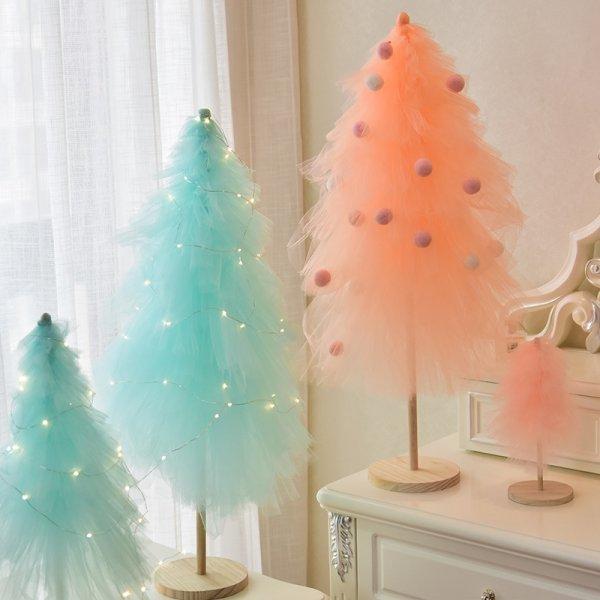Новогодняя елка из кружев от OLOEY (2 цвета, 2 вида, 2 размера)