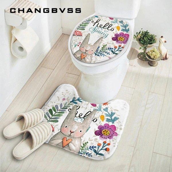 Набор ковриков для туалета от CHANGBVSS (2 предмета, 4 вида)