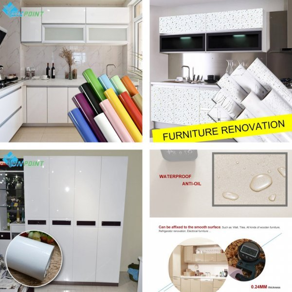 Самоклеющая пленка ПВХ для мебели от YUNPOINT (21 цвет, 5 размеров)