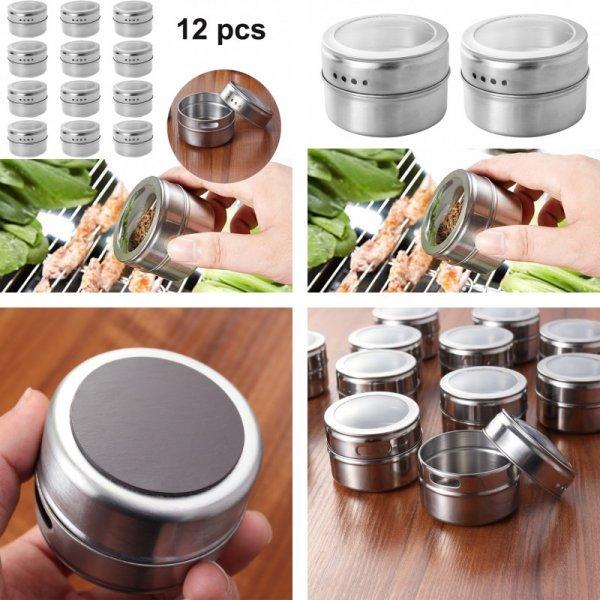 Баночка для специй с магнитной крышкой ROSENICE (12 шт)
