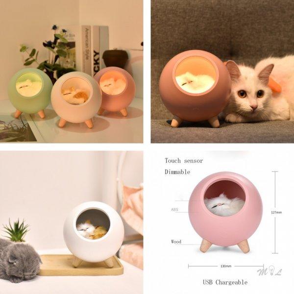 Светодиодный ночник Милый котик от 米囹 (3 цвета)