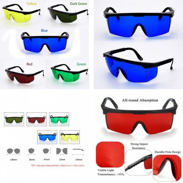 Регулируемые защитные очки (5 цветов линз, 2 комплектации)