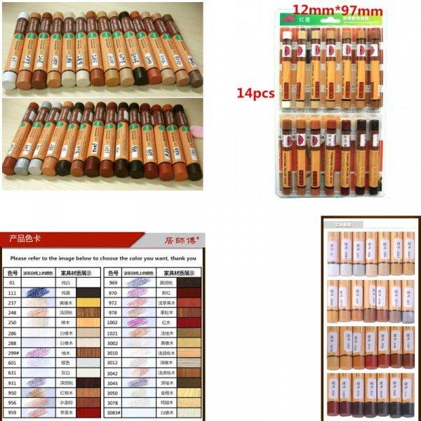Мелки для реставрации деревянных поверхностей (набор 14 шт)