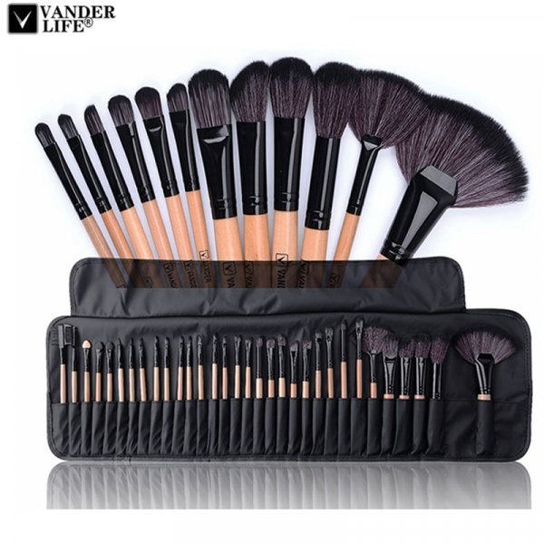 Профессиональные кисти для макияжа от VANDER LIFE (32 шт, 6 цветов)