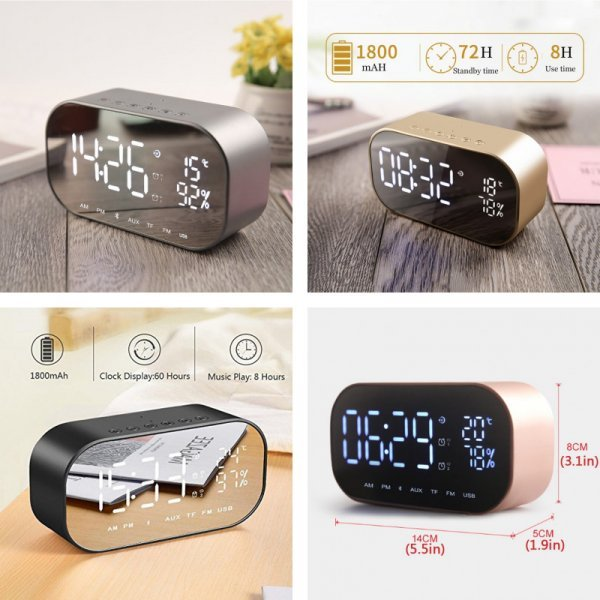 Часы-динамик с FM-радио и  USB-плеером от EAAGD (4 цвета)