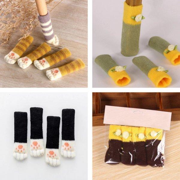 Вязанные носочки для мебели