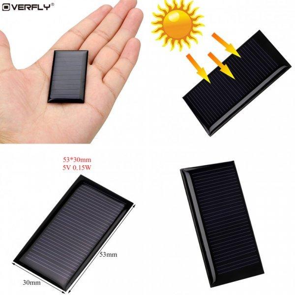 Солнечная мини панель Overfly, дешево (0,15 Вт, 5 В)