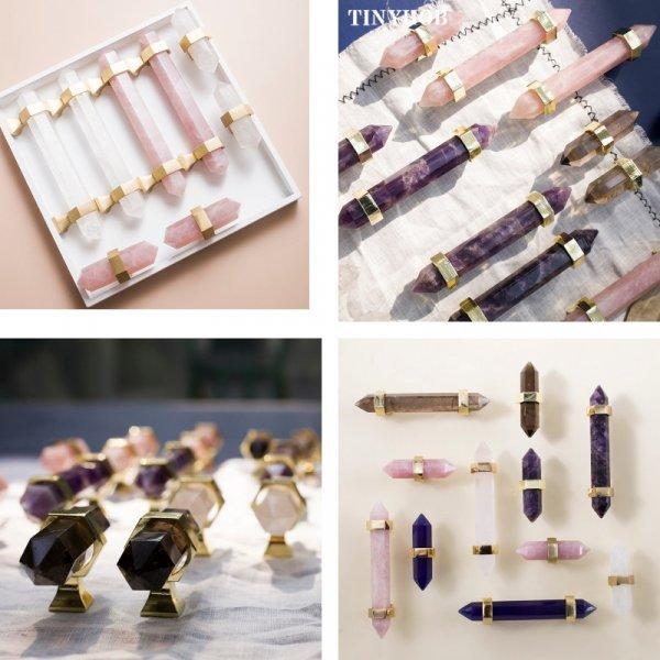 Кристаллические дверные ручки