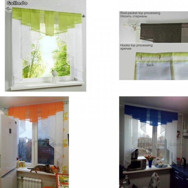 Комплект занавесок для кухни от GOLLADO (22 цвета, 5 размеров)