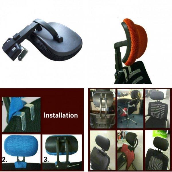 Регулируемый подголовник для компьютерного кресла