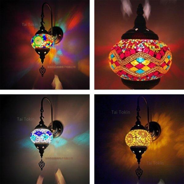 Настенная мозаичная лампа