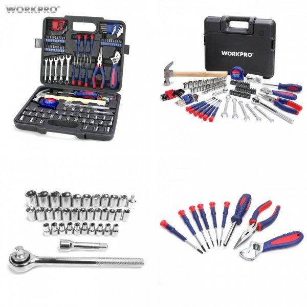 Шикарный набор ручного инструмента WORKPRO с кейсом (165 шт)