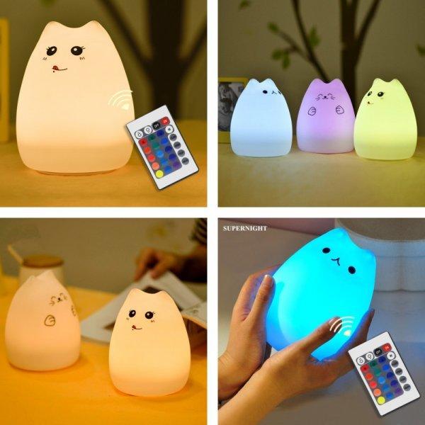 Мягкий  LED ночник с пультом ду  SUPERNIGHT (3 вида)
