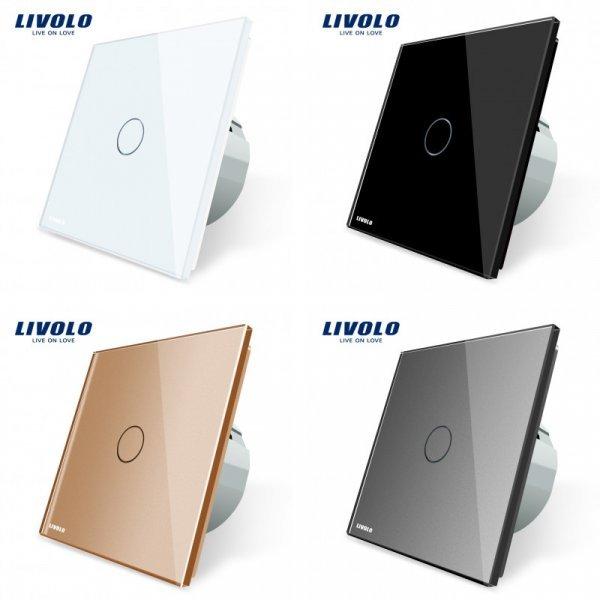 Современный сенсорный выключатель  Livolo с пультом д/у (4 цвета, 1 год гарантии)