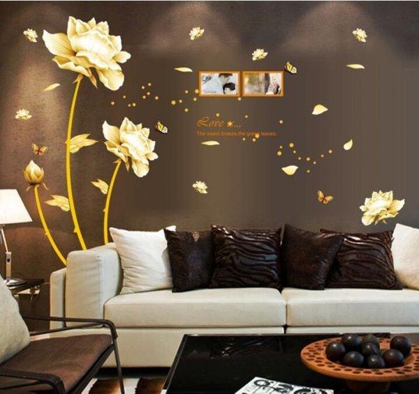 Шикарная наклейка на стену гостиной ZOOYOO (60*90 см)