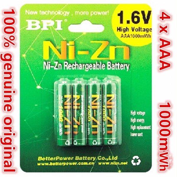 Перезаряжаемые батарейки BPI AAA 1000mwh 1.6 В 1.5 В (4 шт)