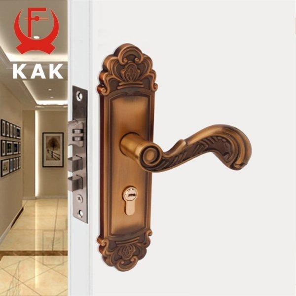 Винтажная ручка с замком для двери KAK