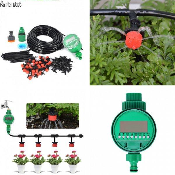 Система для автоматического капельного орошения Farmer bobo (25 м, таймер+шланг+форсунки)