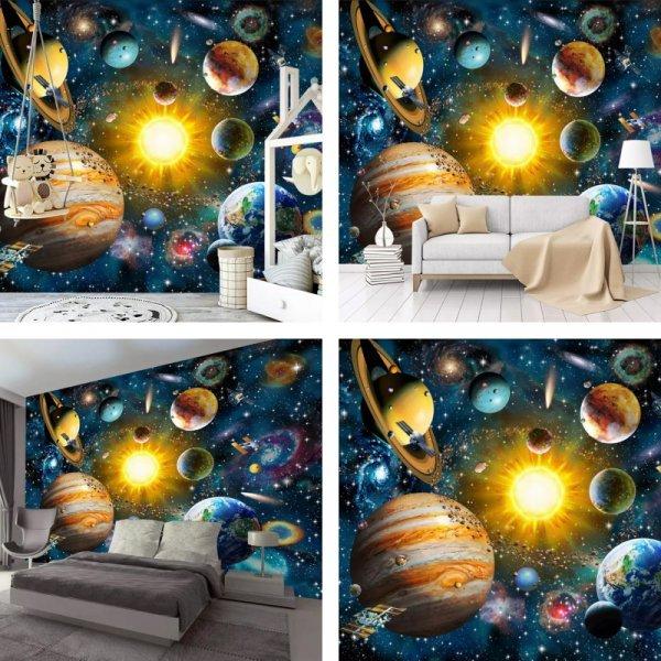 Пользовательские 3D фотообои «Солнечная система»