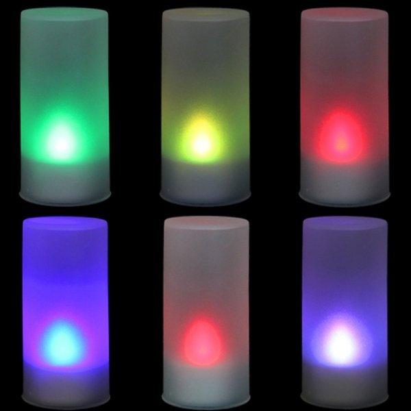 Декоративная LED-свеча меняет цвет (7 режимов)