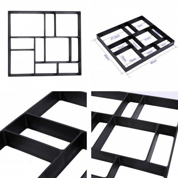 Форма для тротуарной плитки от TOPINCN (45*40*4 см, 1 шт)