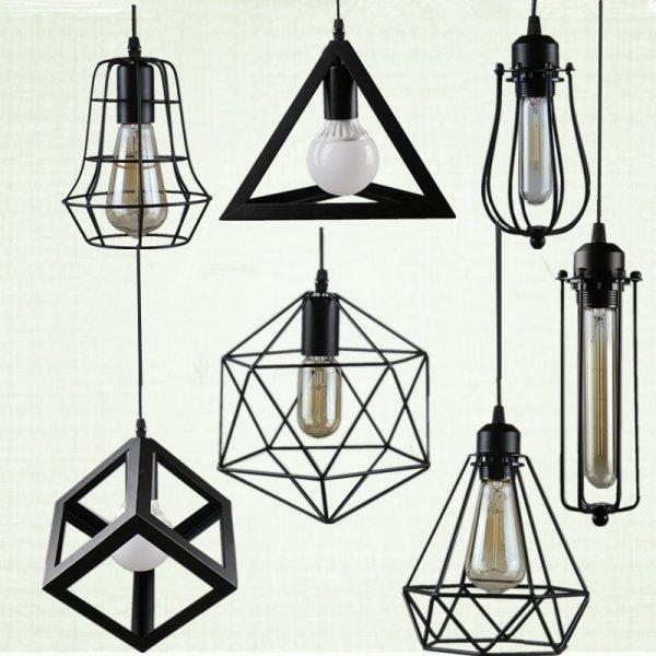 Оригинальные геометрические светильники для кухни NorDiem