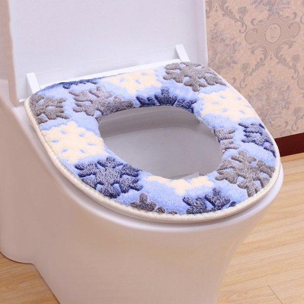Мягкий чехол для унитаза на липучках можно постирать (2 цвета, 43*38 см)