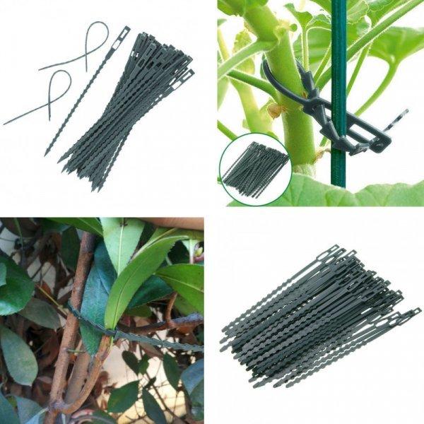 Стяжки для фиксации растений и поддержки веток, 50 шт.