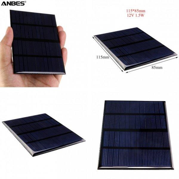 Универсальная солнечная батарея ANBES (1,5 Вт., 12 В)