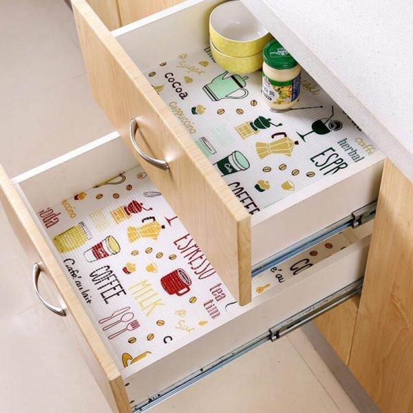 Коврики в ящики на кухню (2 цвета, 2 размера]
