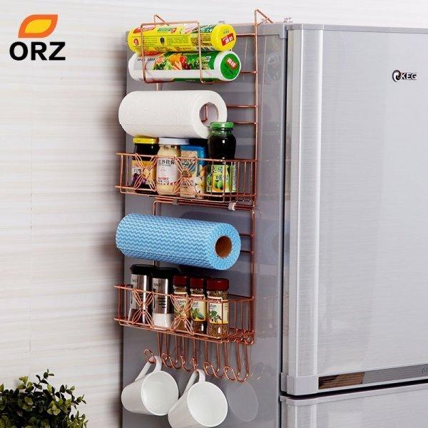 Металлическия многофункциональная полка на холодильник от ORZ