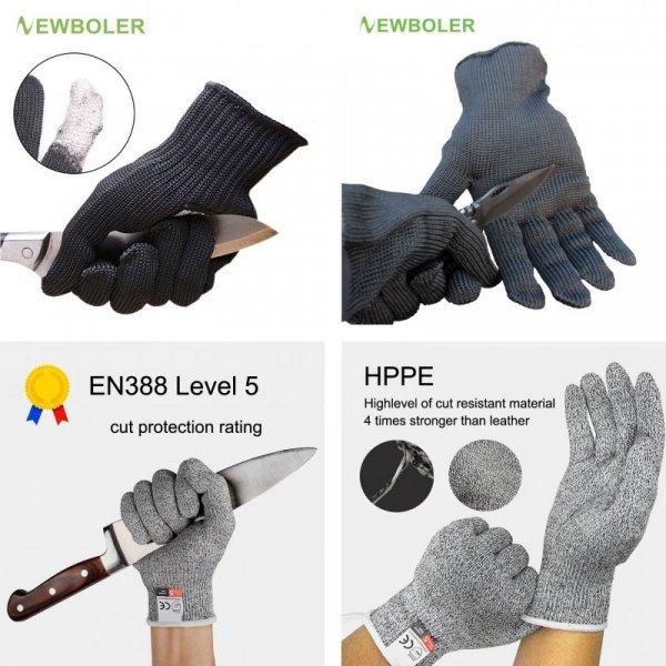 Порезостойкие защитные перчатки от NEWBOLER (1 пара)