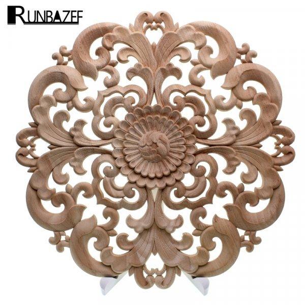 Резное украшение для мебели RUNBAZEF (дерево, 1 шт, 10-40 см)