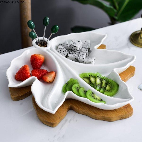 Керамическая тарелка от KE TIAN (2 размера)