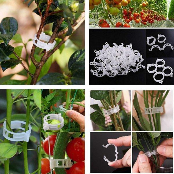 Пластиковые зажимы для подвязки растений (50 или 100 шт)
