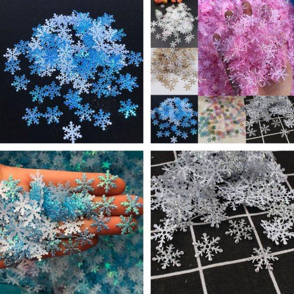 Набор снежинок (6 цветов)