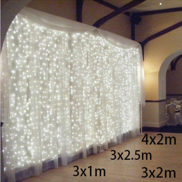 Светодиодная штора от KIKIELF (8 размеров, 2 цвета)